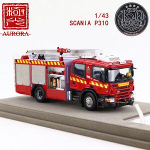 AURORA-1-43-Resin-Fire-Truck-Model-Collectio-HKFSD-P320-Major-Pump-SCANIAC-P320