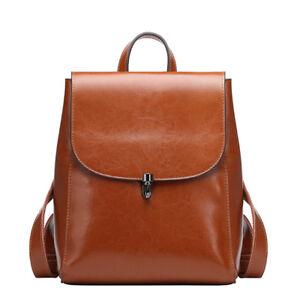 Women-Genuine-Leather-Backpack-Handbag-Shoulder-Bag-Crossbody-Hobo-786