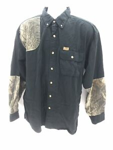 Sportsman's Warehouse Long Sleeve Cotton Padded Shoulder Button Up Shirt Mens XL