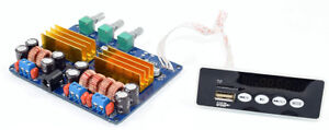 TPA3116-2-1-Bluetooth-power-amplifier-board-TF-card-USB-remote-control