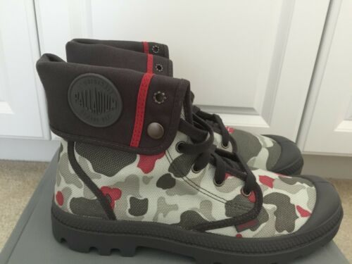 Palladium Men/'s Baggy Snow Boots 02353005,Grey//Red Camo New In Box