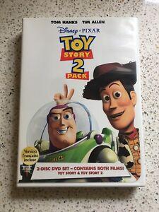 TOY-STORY-amp-TOY-STORY-2-DVD-2-Pack-Disney-Pixar-Disc-Movie-Film-Tom-Hanks