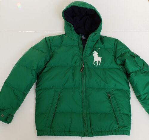 NWT Polo Ralph Lauren BOYS DOWN PUFFER JACKET COAT BIG PONY HOODIE M,L,XL  #84