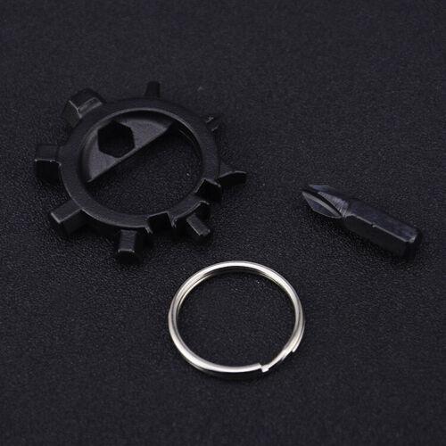 Multifunctional Gear Outdoor Keychain Screwdriver Bike Repair Tools 12 Function