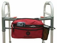 Wheelchair Pouch Rollator Walker Bag With 2 Zippered Storage Compartments - Red on sale