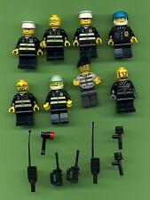 Lego--System--Polizei-Gangster--Figuren-- 8 Stück --Konvolut -- Mit Zubehör-