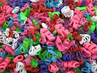 200 Pcs 100 Pairs Fashion Shoes Random Heels Sandal Accessories For Barbie Doll