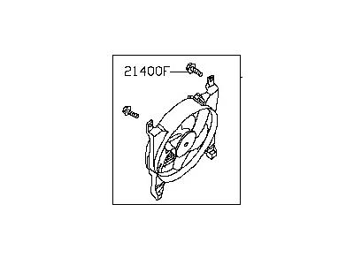 NISSAN GENUINE FAN /& MOTOR ASSY-CONDENSOR 92120-EA200 !