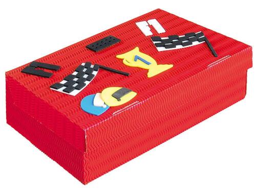 Bastelset Schulbox Formel 1 Auto rot Aufbewahungsbox und Kiste Kreativbox