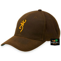 Browning Dura Wax Adjustable Ball Cap Hat 3d Logo Brown