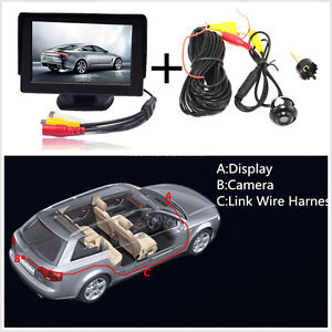 car suv rear front view 360 degree camera and 4 3 inch tft lcd digital hd camera ebay. Black Bedroom Furniture Sets. Home Design Ideas