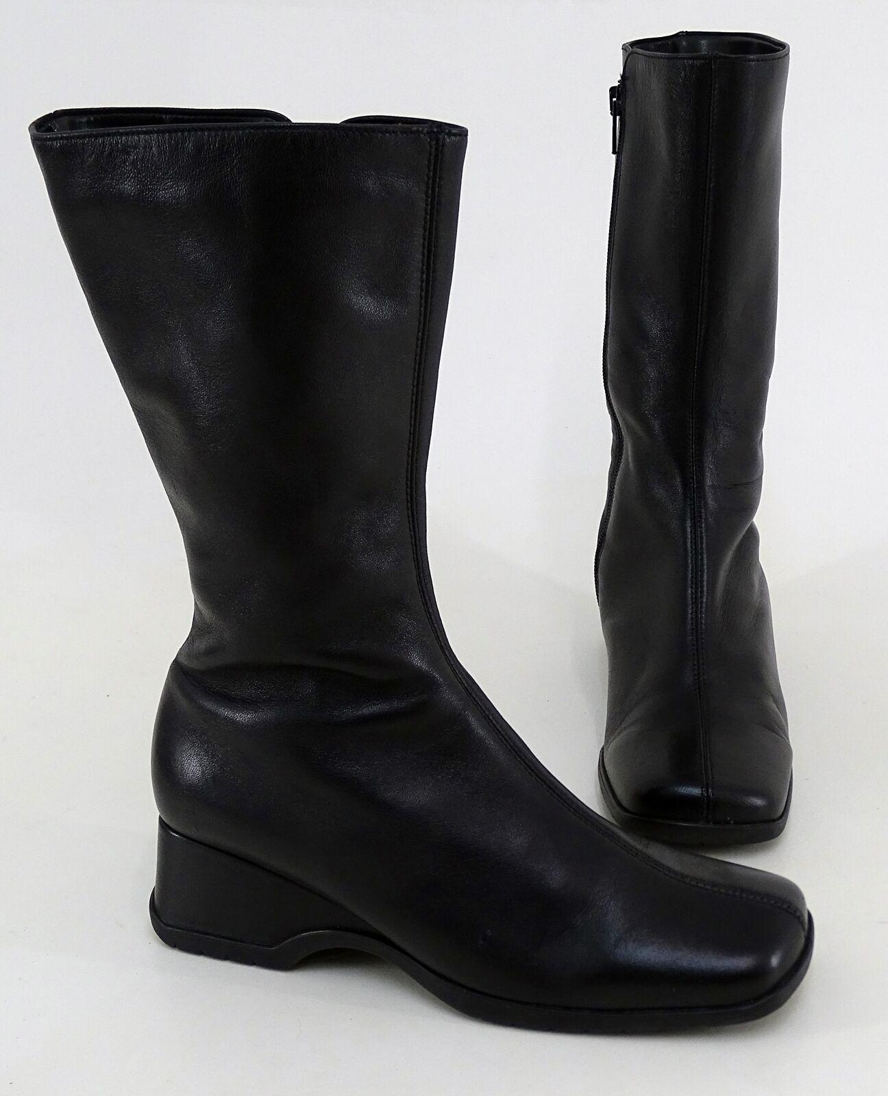 Stiefel Gabor Reißverschluss Keilabsatz Echtleder schwarz Gr. 37 4 = 37 Gr. a8d8db