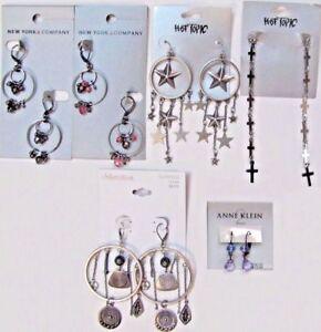 NWT-70-Wholesale-Lot-Dangle-Earrings-Fashion-Jewelry-NEW-YORK-amp-CO-HOT-TOPIC