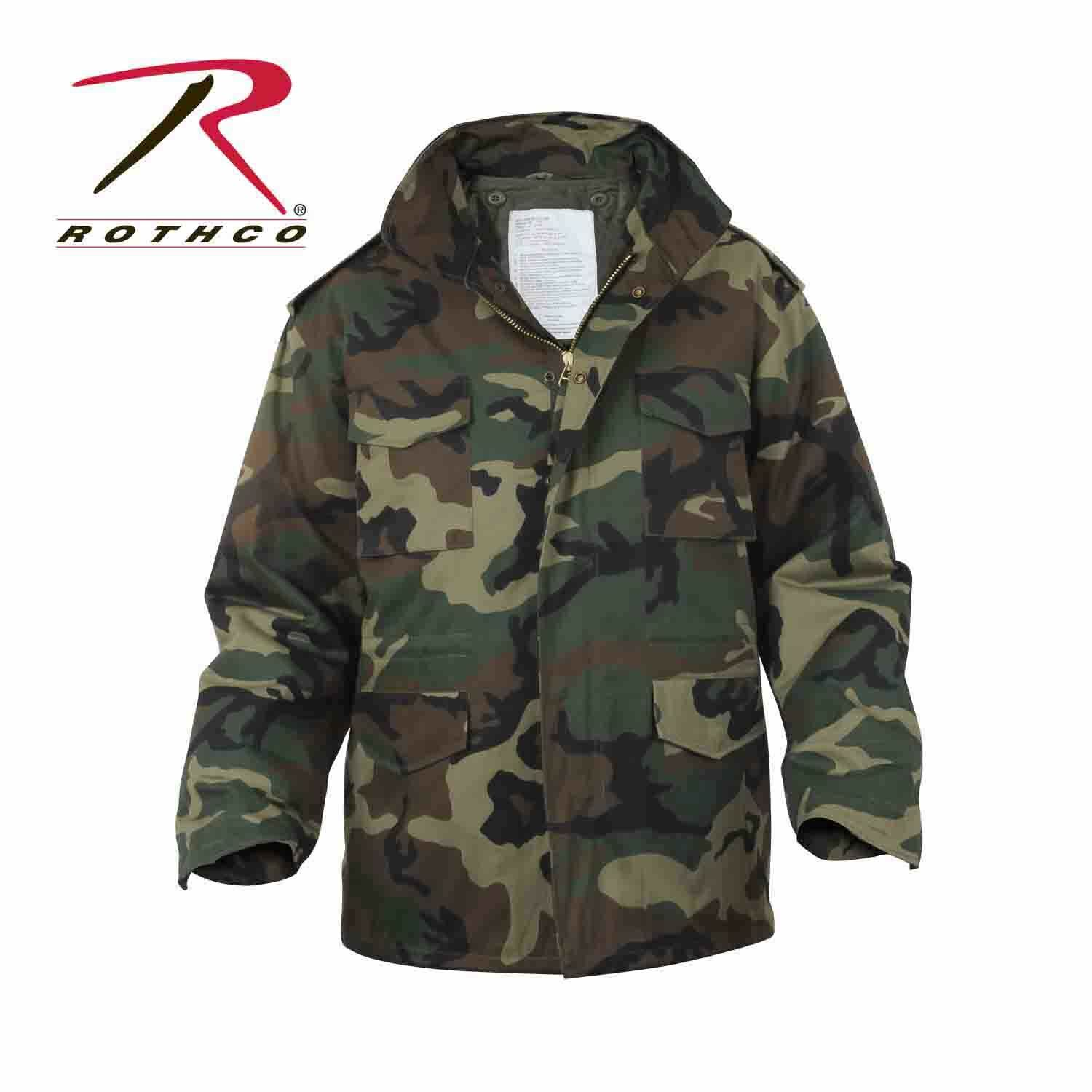 Rothco M65 Field Coat with removeable quilted liner WOODLAND
