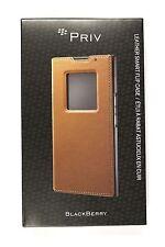 New OEM BlackBerry ACC-62173-002 PRIV Leather Smart Flip Folio Case - Tan