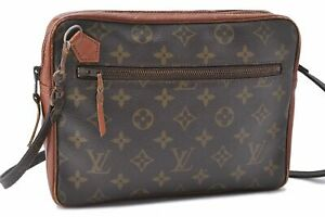 Authentic-Louis-Vuitton-Monogram-Brown-Shoulder-Bag-Old-Model-LV-A7487