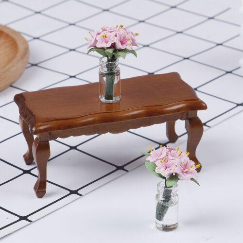 1:12 Hölzerner Teetisch für Puppen Mini Möbel Spielzeug Puppenhaus Rollensp  JMH