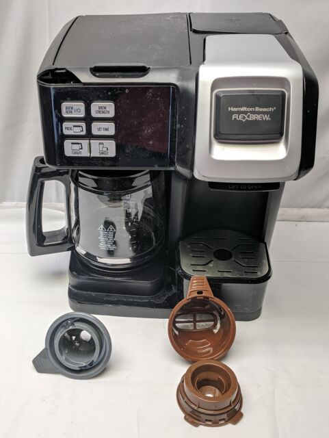 Hamilton Beach FlexBrew 2-Way Coffee Maker w/ 12-Cup Carafe, 49976, Top Cracked | eBay