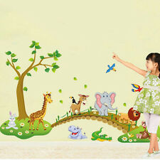 Wall Stickers Zoo Animal Jungle Tree Baby Nursery Bedroom Decal Decor Art Best