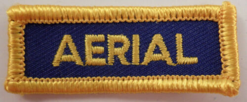 Aerial Gold And Blue Bar Uniform Patch