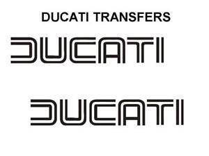 Ducati-Klassisch-Tank-Transfers-und-Aufkleber-Motorrad-Verkauf-Paarweise-Schwarz