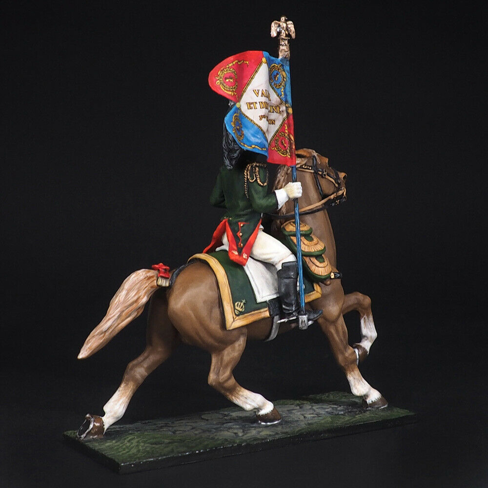Tin soldier, Lieutenant standard bearer French Dragoon Napoleonic Wars, Wars, Wars, 54 mm 0d24cf