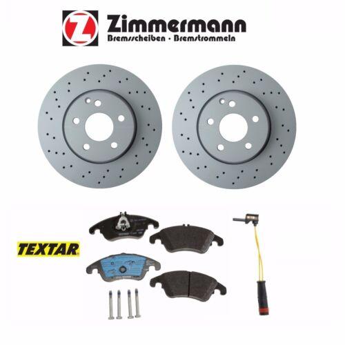 For Mercedes E250 E350 E400 w// Sport Pacg Front Brake Rotors+Pads+Wear Sensor