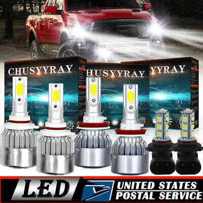6x Combo COB 6K LED Headlight Kit Hi Low Fog Light For Nissna Murano 2009-2014