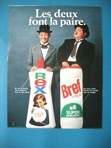 PUBLICITE-DE-PRESSE-REX-BREF-NETTOYANT-MENAGER-SOSIES-LAUREL-ET-HARDY-1968