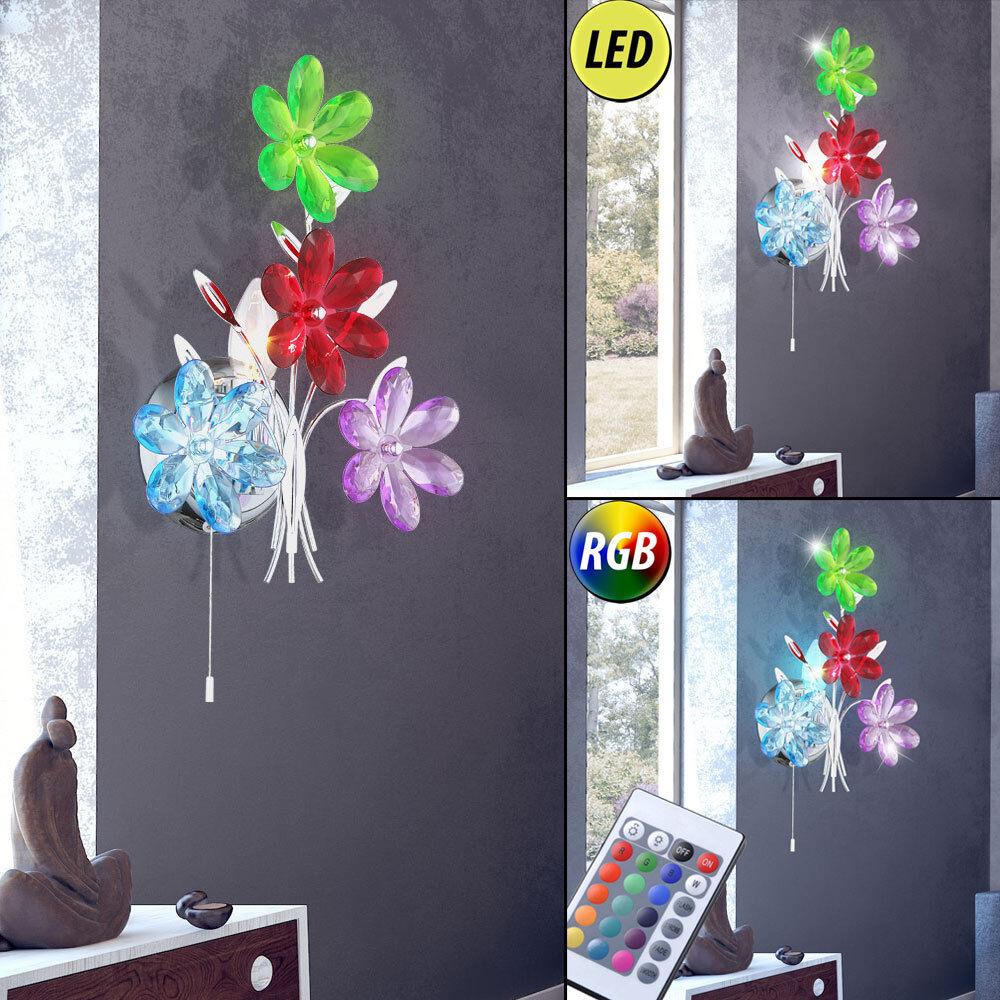 LED lampe fleurs éclairage mural dimmable salon lecture lumière RGB télécommande