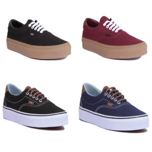 7d70545ba06246 Vans Canvas Era 59 Men Canvas Black Gum Skate Shoes Size UK 6 -12