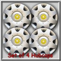 1998-1999 16 Vw Volkswagen Beetle Yellow Daisy Flower Hub Caps, Wheel Covers