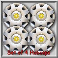 1998-1999 16 Vw Volkswagen Beetle Yellow Daisy Flower Hub Caps, Wheel Covers