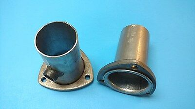"3.5/"" HEADER TO 2.5/"" ALUMINIZED 3 BOLT GASKET STYLE HEADER COLLECTOR REDUCER USA"