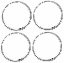 """14"""" Chrome Stainless Steel HOT ROD STYLE SMOOTH Beauty Rings TRIM RING SET Of 4"""