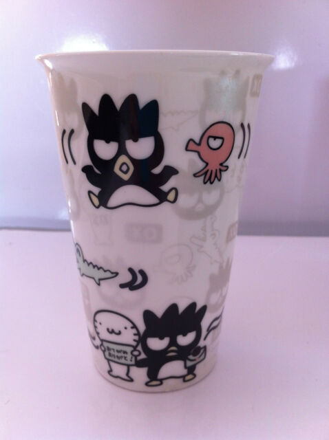 Badtermaru Hello Kitty Genuine- Thermal Ceramic Cup and Silicon Lid JAPAN