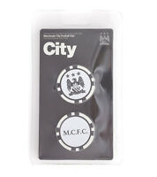 Manchester City 2 Poker Chip Golf Ball Markers In Gift Set