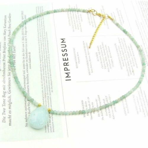 Bailysbeads noble mehrfabrige piedras preciosas collar cadena facetada 4x6mm nuevo 332