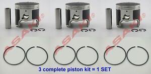 For-YAMAHA-GP1200-GP760-LS-2000-Piston-Kit-64X-11635-00-65U-11635-00-Ring-X3