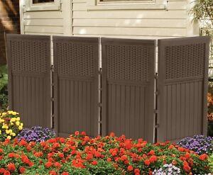 New-Suncast-FSW4423-Outdoor-Garden-Yard-4-Panel-Screen-Enclosure-Gate-Fence-Java