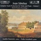 Sibelius Complete Youth Production for Violin and Piano Vol.1 Audio CD