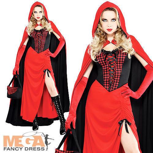 Chaperon rouge robe fantaisie Mesdames livre conte Jour Semaine Costume Femme Tenue