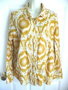 J. Crew The Perfect Shirt XL Button Down Blouse 100% Cotton Long Sleeves Paisley