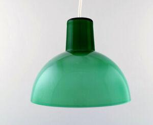 Kastrup-Holmegaard-Rare-work-pendant-lamp-in-green-opaline-glass