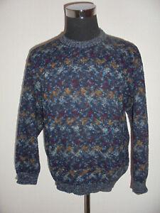 vintage-italy-GINA-LEBOLE-Strickpullover-Strickpulli-oldschool-crazy-pattern-M-L