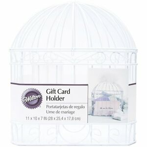Wedding Shower Gift Card Box : ... Wedding Shower Reception Bird Cage Gift Card Holder White Box Wishing