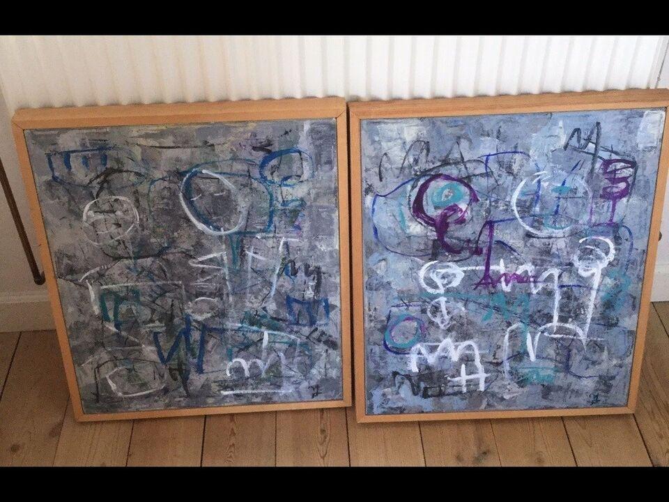 Akrylmaleri, motiv: Abstrakt, stil: Modernisme