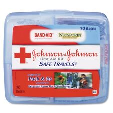 Johnson & Johnson Red Cross Portable Travel First Aid Kit 70 Pcs with Plastic Case