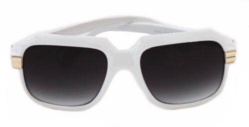 Hip Hop Sonnenbrille Oversize Kult Run Dmc Grandmaster weiß 607