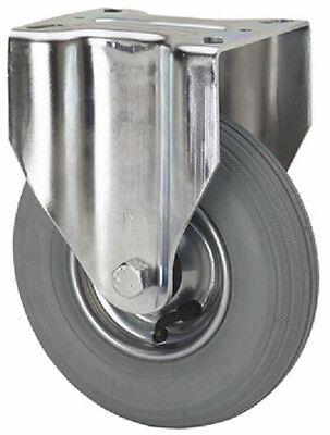 Transportrolle Bockrolle 200 mm Luftreifen grau spurlos Rolle Rad